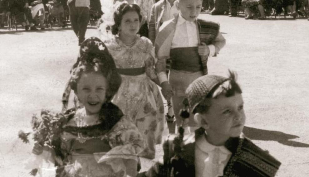Los más pequeños también participaron en la primera Ofrenda