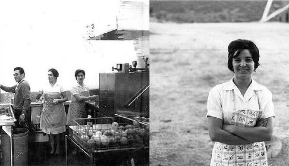 Cocina de la antigua estación de Fresnedillas, donde trabajó Consuelo Alonso.
