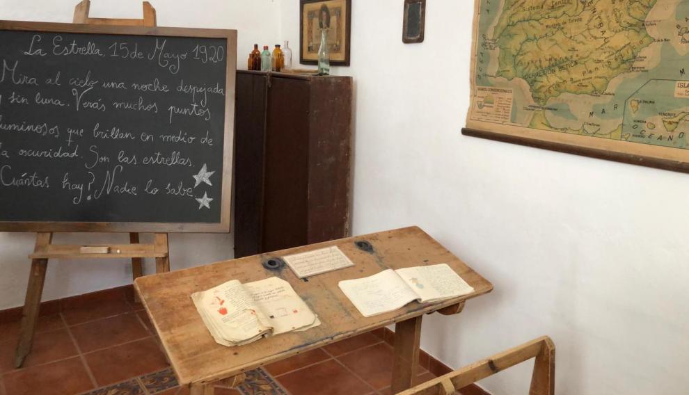 La antigua escuela recuperada de Mosqueruela