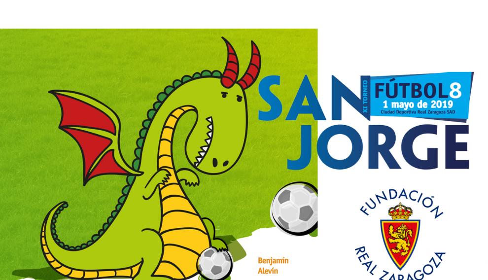 Cartel del Torneo San Jorge organizado por la Fundación Real Zaragoza