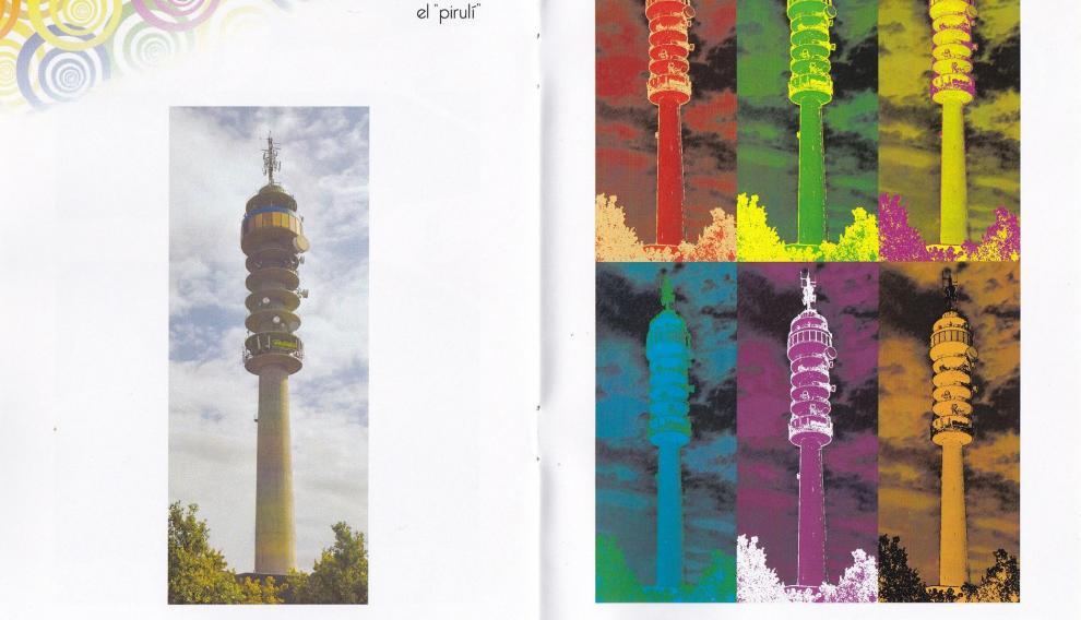 El Pirulí, uno de los emblemas de altura y telecomunicación de Zaragoza.