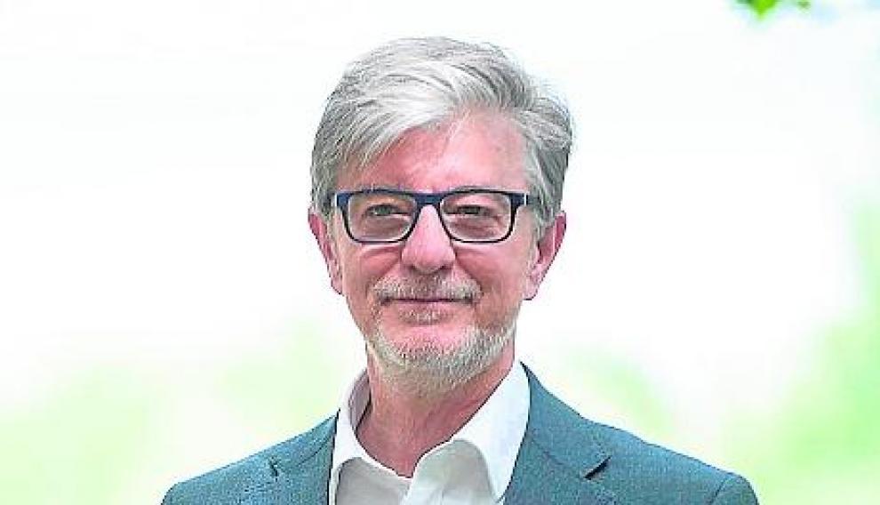 Pedro Santisteve, candidato al Ayuntamiento de Zaragoza por Zaragoza en Común.
