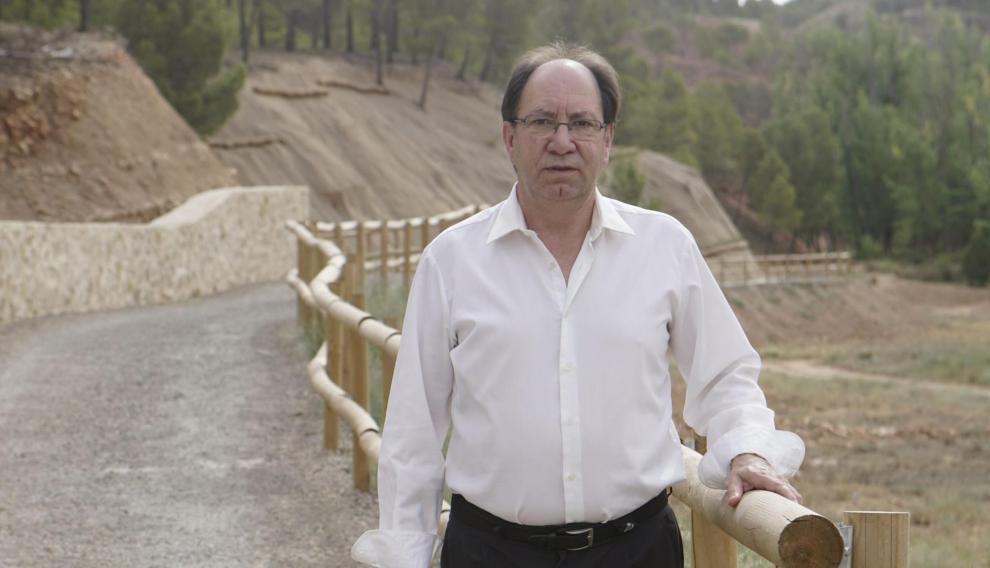 Julio Esteban, concejal del ayuntamiento de Teruel encargado del proyecto life + del nuevo parque de los monotes en Teruel. Foto Antonio Garcia/Bykofoto. 21-07-16