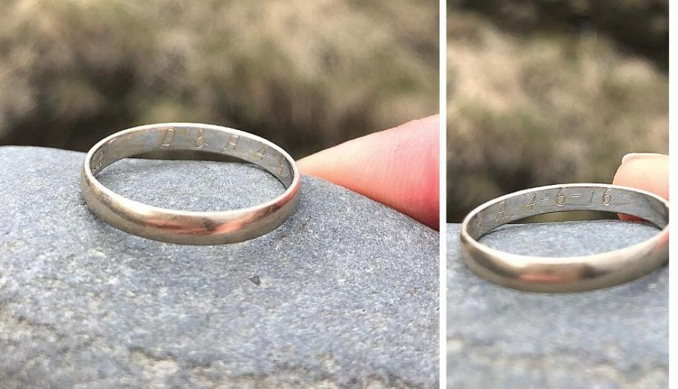 Se busca a los dueños de un anillo zaragozano perdido en Islandia.