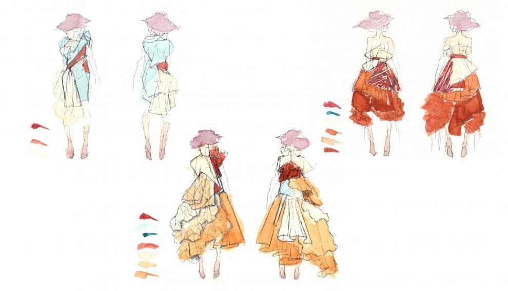 Un planning de las ilustraciones de Nuria.