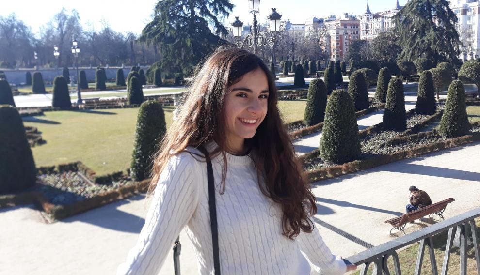 Elena Sierra, tercera mejor nota de la Evau en la provincia de Huesca.