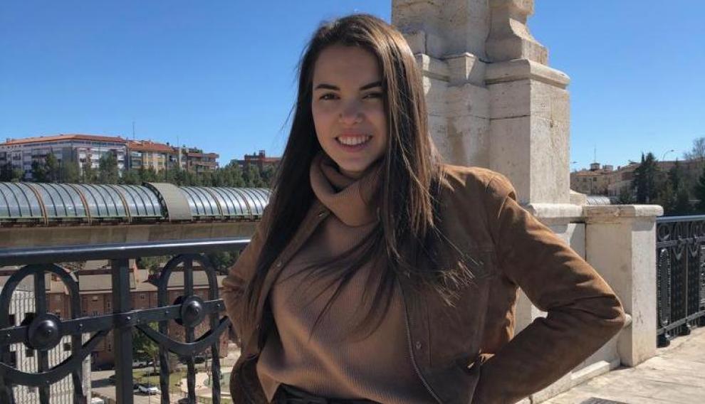 Lucía Llorente, tercera mejor nota de la Evau en Teruel.