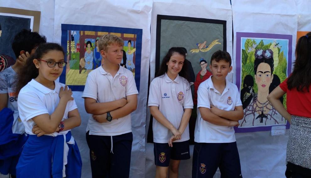 Los alumnos se sienten muy orgullosos de su trabajo
