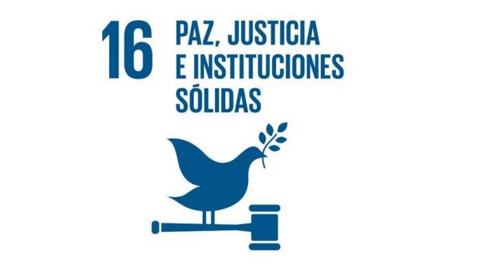 Objetivo 16: paz, justicia e instituciones sólidas.