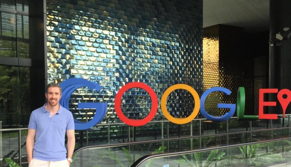 Borja Adiego, en la sede de Google.