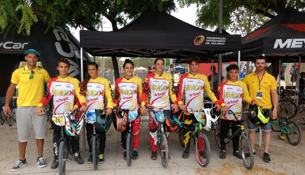 Selección aragonesa en el Nacional de BMX