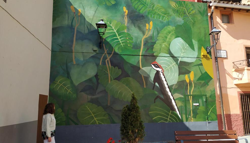 Otro de los nuevos murales de Los Fayos.
