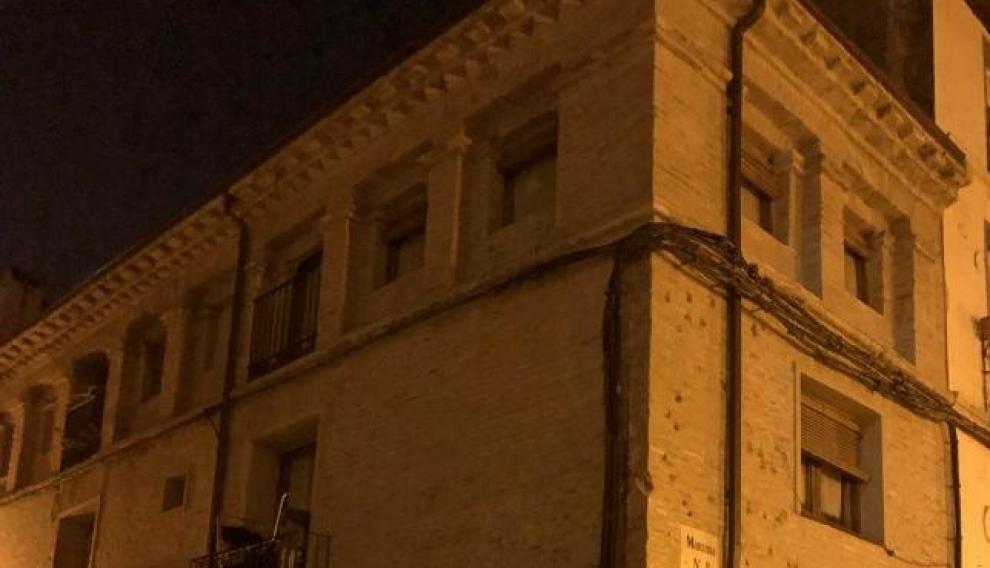La casa en la que vivió María Andresa, en el barrio de La Magdalena de Zaragoza, en la actualidad.
