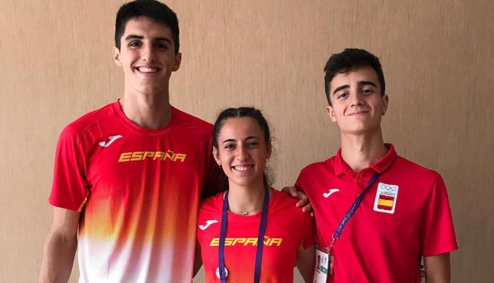Mario Revenga, Pol Oriach y Laura Pintiel.