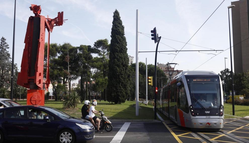 Rotonda de Toulouse este jueves por la mañana, una vez restablecido el tráfico