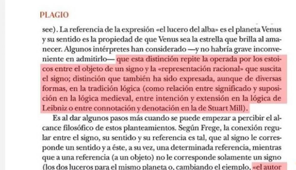 Plagio de Manuel Cruz