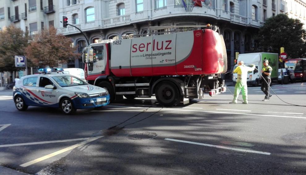 Lugar donde ha tenido lugar el accidente de los dos autobuses