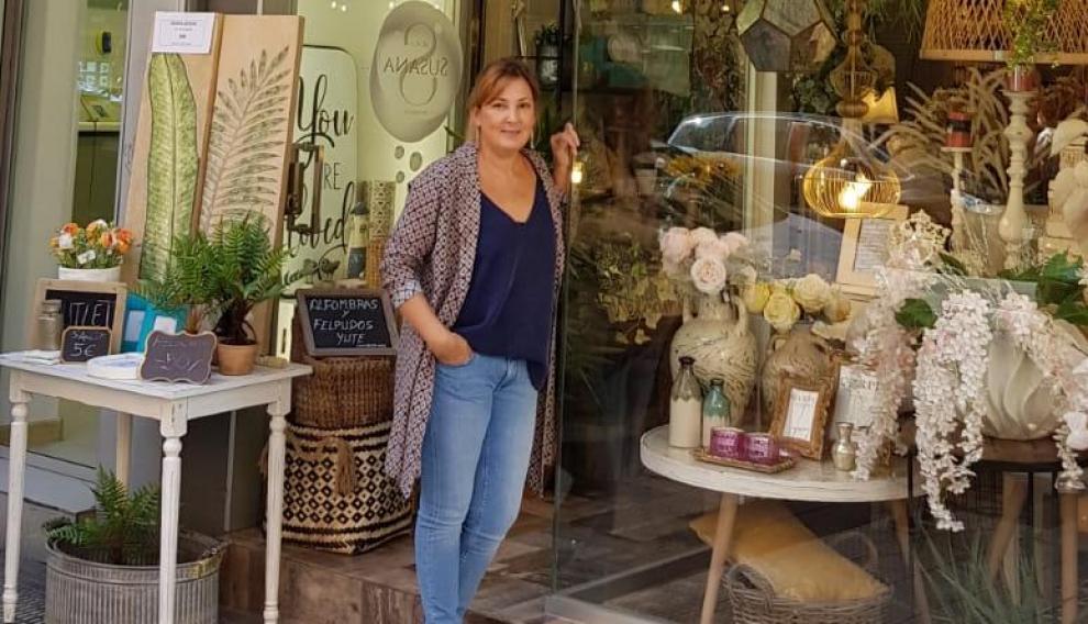 Susana Lozano, responsable de la tienda de decoración S de Susana