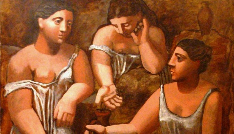 'Las mujeres en la fuente', Pablo Picasso, 1921.