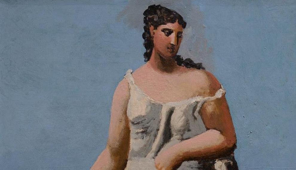 'Mujer junto al mar', Pablo Picasso,1922