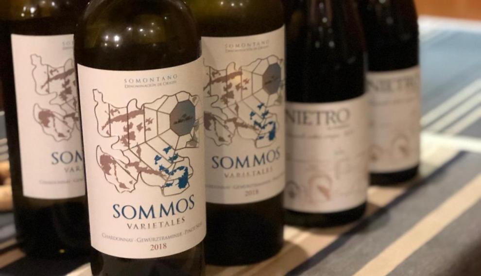 Los vinos de Bodega Sommos que se bebieron.