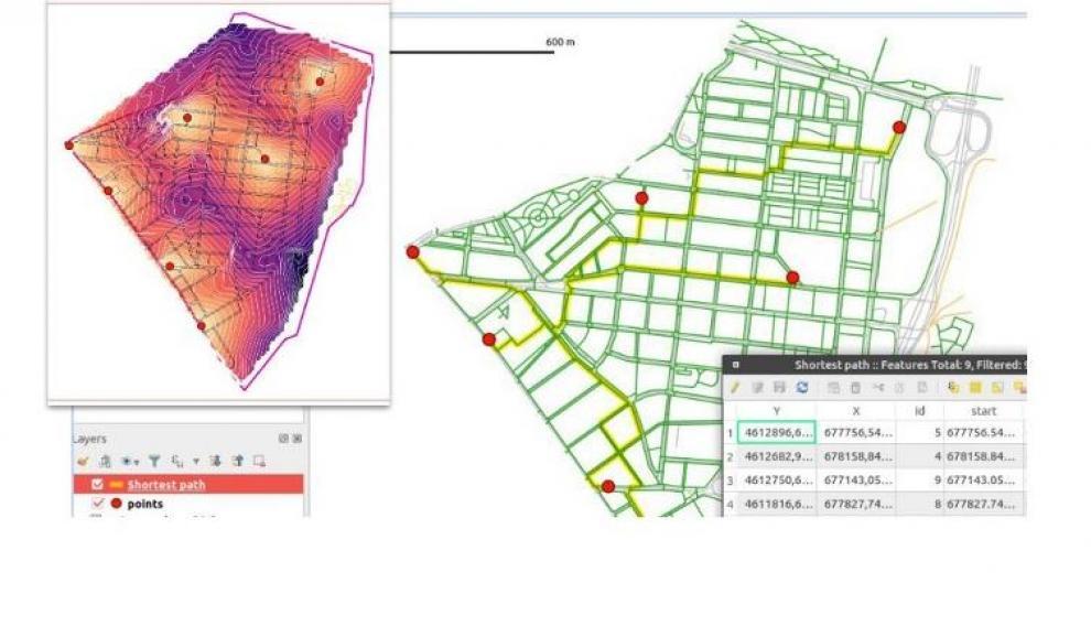 Mapa con información de accesibilidad.