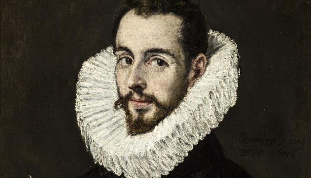 Retrato del pintor Jorge Manuel Theotocopuli de El Greco, 1605, reproducido por Picasso en 1950.