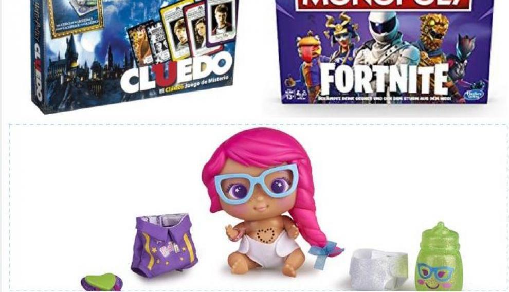 El Cluedo de Harry Potter, el Monopoly de Fornite y una muñeca Bellies.