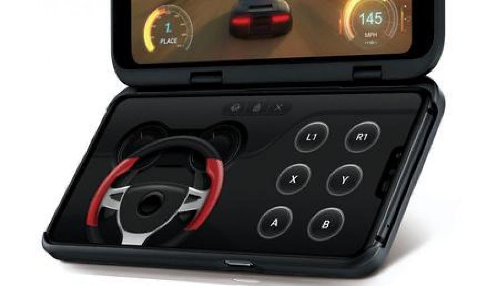 La pantalla secundaria del LG V50 se puede usar como gamepad o como teclado