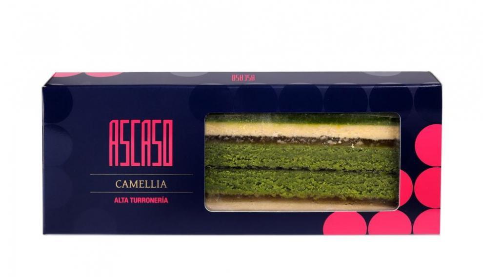 Camellia, el turrón de Ascaso que lleva yuzu y té matcha.
