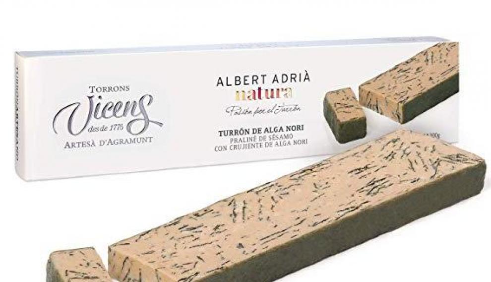 Turrón de alga nori de Albert Adriá para Vicens.