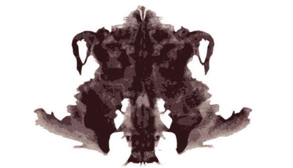 Ejemplo de imagen del test de Rorschach.