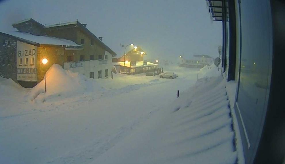 Imagen de la webcam del Portalet de este jueves por la tarde.