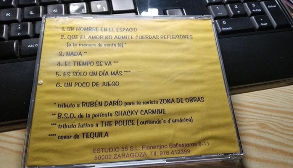 CD-R de Bunbury, contraportada amarilla.