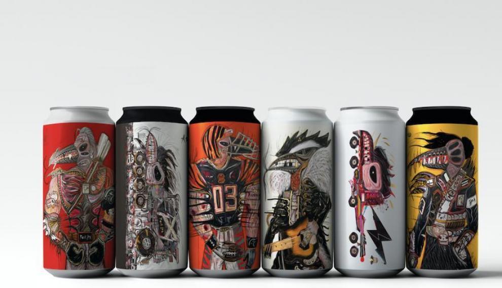 Colección de cervezas en lata lanzada recientemente por Golden Promise