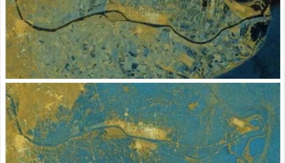 El delta del Ebro, antes y después de la Borrasca Gloria