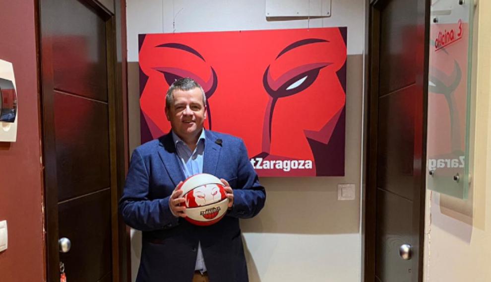 Javier Gastón, responsable de márquetin de Basket Zaragoza.