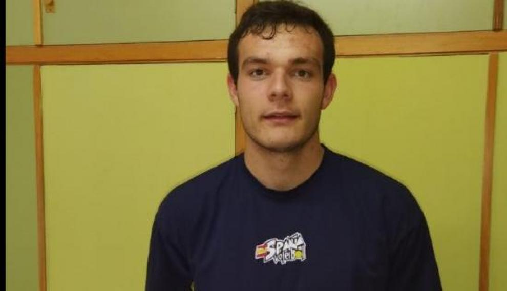 Pablo Martínez, en la Concentración Permanente de Palencia con la selección sub-20