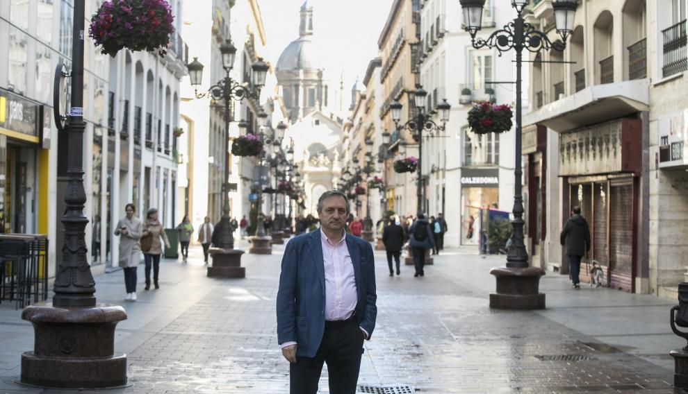 Alejandro Aznar, de la asociación de comerciantes Zaragoza Centro.