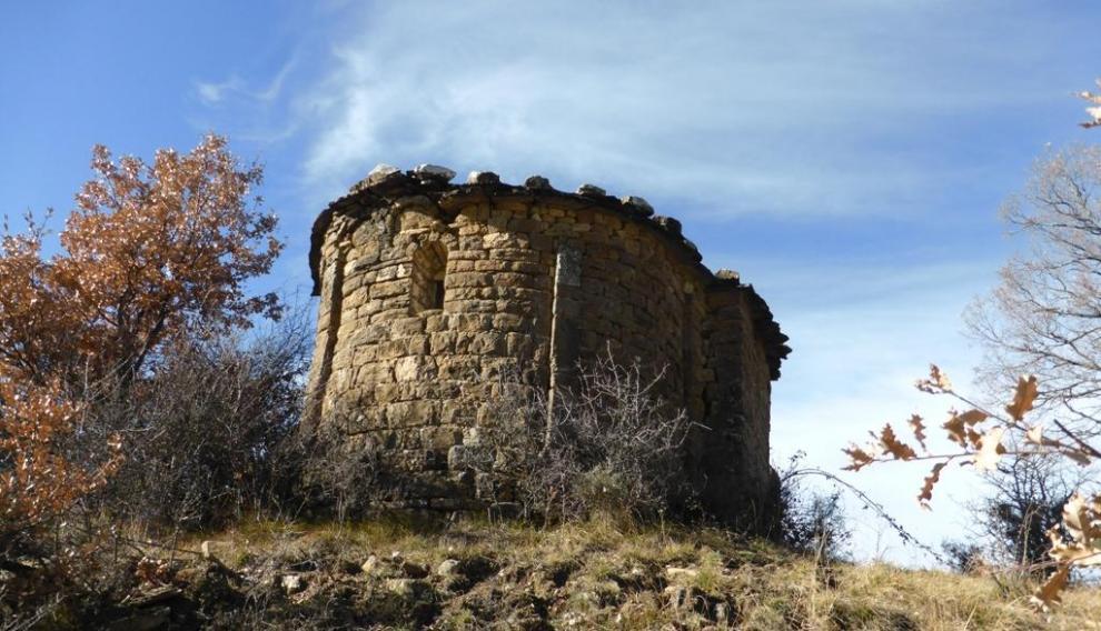 Ermita de San Saturnino de Aguascaldas, en el valle de Bardají.