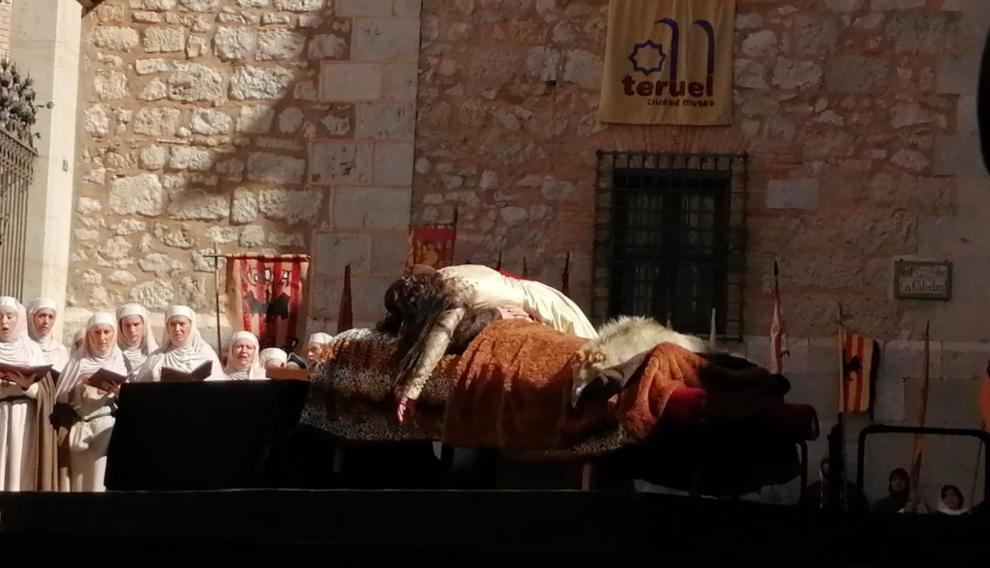 Muerte de Isabel sobre el lecho de Diego