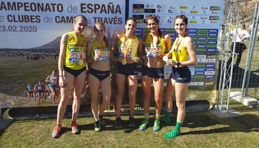 El equipo sub-23 del Alcampo Scorpio, oro en el Nacional de clubes en Soria