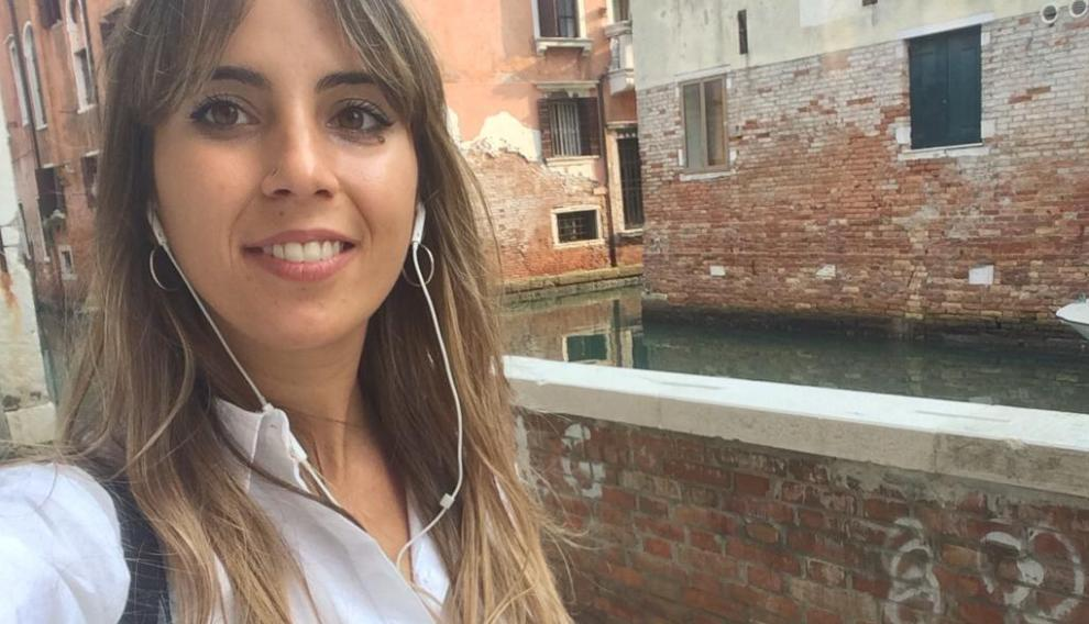 Paula Marqués, turolense en Venecia.