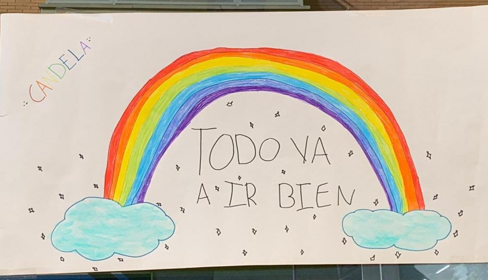Un arcoíris de Candela.