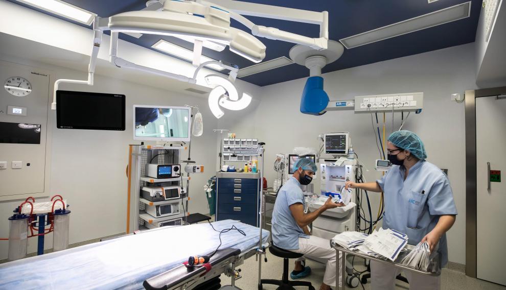 Uno de los seis quirófanos del hospital HC Miraflores