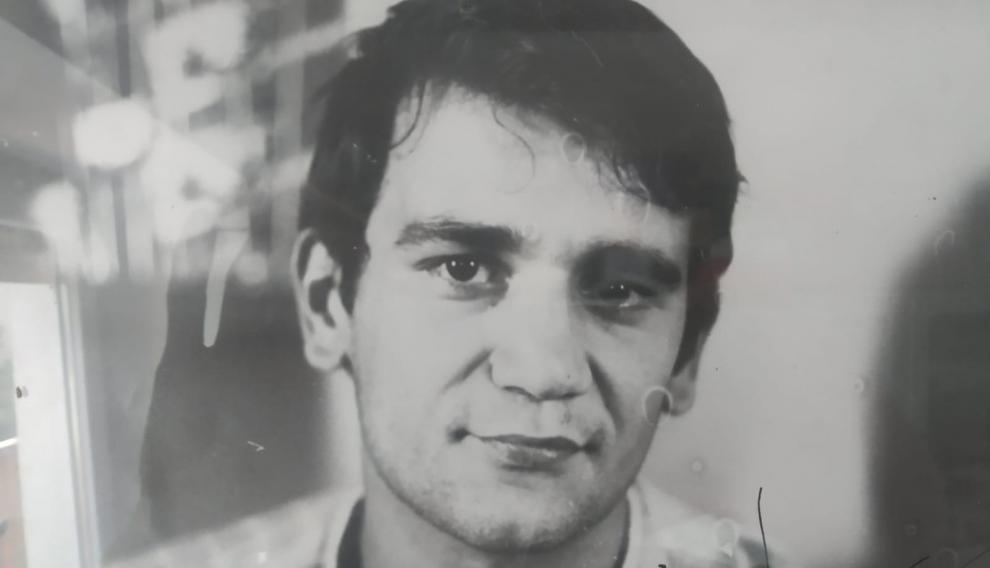 Santiago Arranz, muy joven. En la época en que era un gran ciclista.