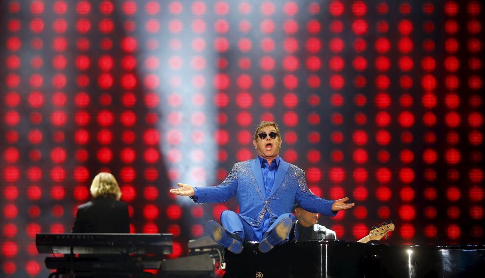 El cantante británico Elton John.