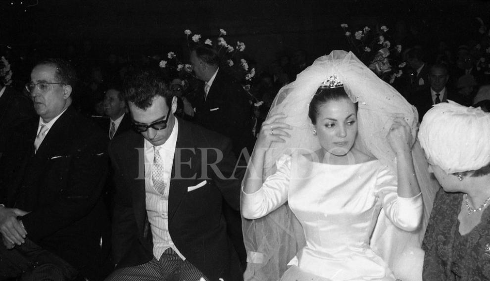 El 23 de febrero de 1961 la actriz Carmen Sevilla contraía matrimonio con el compositor Augusto Algueró en la basílica del Pilar de Zaragoza