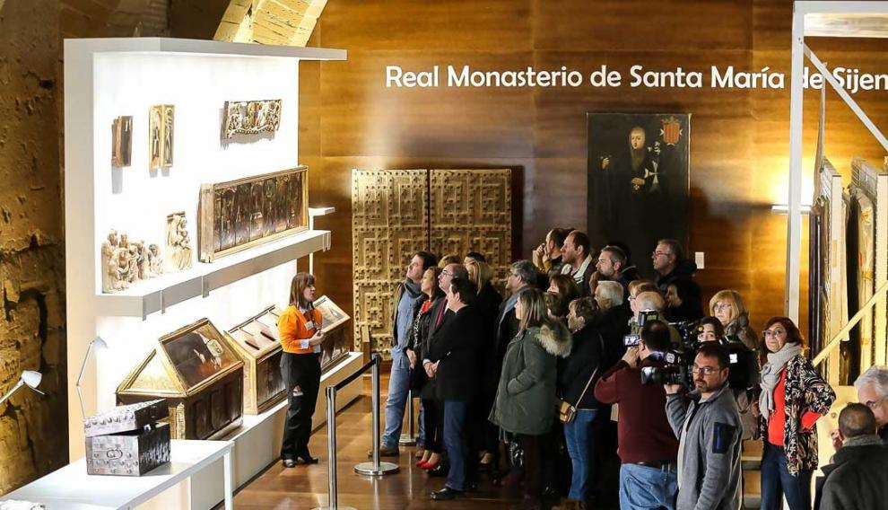 23 de febrero. Apertura oficial de la exposición de los bienes del Real Monasterio de Santa María de Sijena, con una muestra de 95 piezas, 32 de ellas recuperadas del museo de Lérida en diciembre de 2017.
