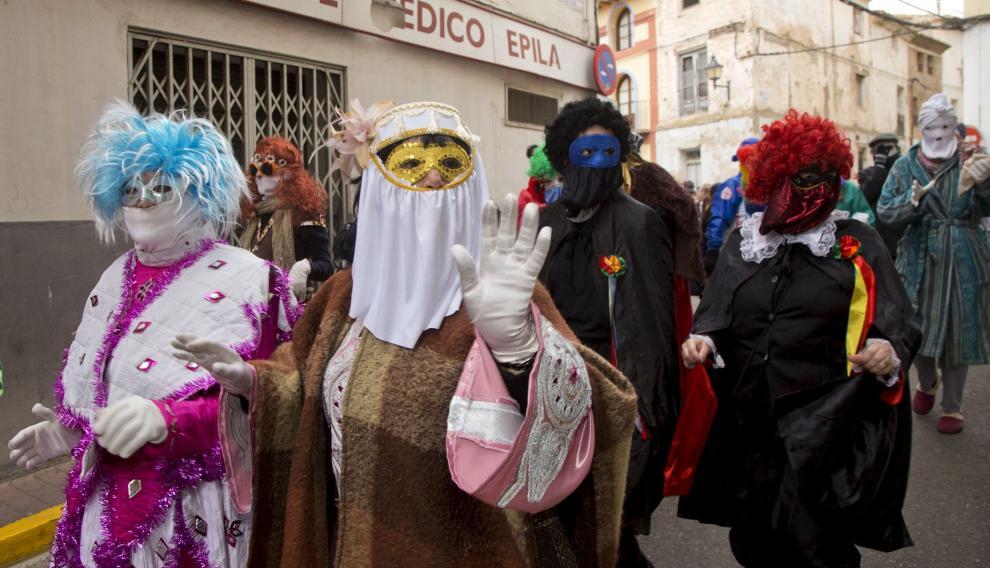 Las mascarutas del carnaval epilense.